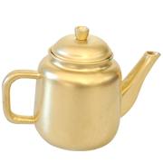 Metal African Teapot Gold