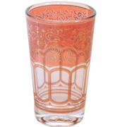 Moroccan Tea Glass Rose Pink