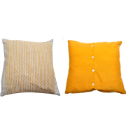 Ochre Reversable Cushion