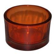 Orange Glass Votive