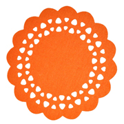 Orange Felt Placemat Large