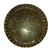 Oriental Brass Tray A