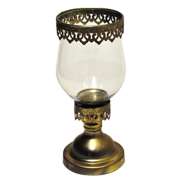 Ornate Hurricane Lantern Gold