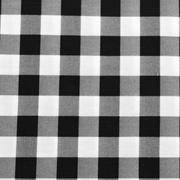Overlay Gingham Black and White Large