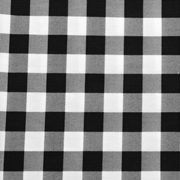 Overlay Gingham Black and White Medium