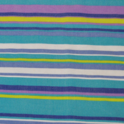 Overlay Stripe Turquoise Lime Green and Purple