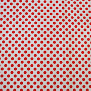 Overlay White and Red Mini Polka Dot