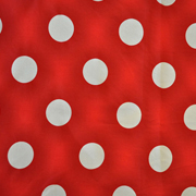 Overlay White and Red Polka Dot