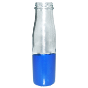 Paint Dipped Small Chutney Bottle Blue