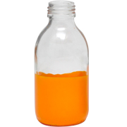 Paint Dipped Bottle Orange Small