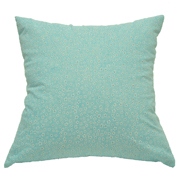 Pastel Cushion Cover Aqua Blue with White Flower Detail