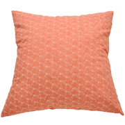 Pastel Cushion Cover Coral with White Flower Detail