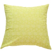 Pastel Cushion Cover Lime Green with White Flower Detail