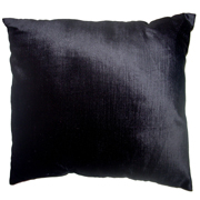 Plush Velvet Cushion Cover Black