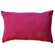 Plush Velvet Cushion Cover Pink Plain