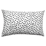 Polka Dot Cushion Rectangle White with Black Dots