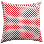Polkadot Cushion White with Red Dots