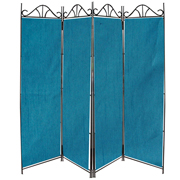 Polysilk Room Divider Teal Blue