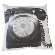 Printed Telephone Black on White