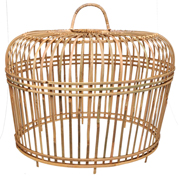 Rattan Thick Chicken Cage Natural Large