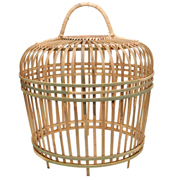 Rattan Thick Chicken Cage Natural Medium