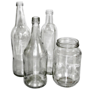 Recycled Jars and Bottles Mixed Sizes