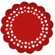 Red Felt Placemat Large