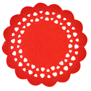 Red Felt Placemat Small