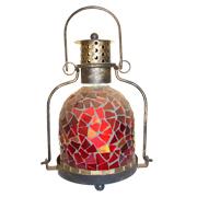 Red Mosaic Lantern