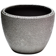 Round Dimpled Vase Silver
