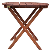 Round Foldup Garden Table Teak