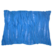 Ruffle Cushion Cover Blue