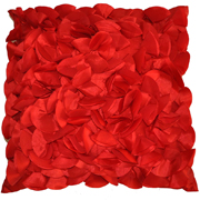 Ruffle Cushion Cover Red