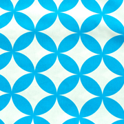 Runner Blue and White Geometric Pattern