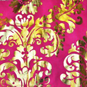 Runner Floral Foil Gold and Pink