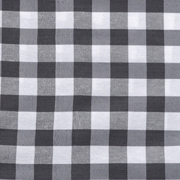 Runner Gingham Grey Medium Square