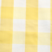 Runner Gingham Yellow Large Square