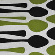 Runner Green and Black Spoons