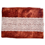 Runner Velvet Rust and Cream Lace