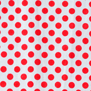Runner White with Red Polka Dots