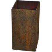 Rust Box Vase