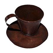 Rusted Teacup Metal