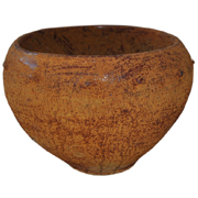 Rustic Rust Pot with Bumps Medium