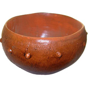 Rustic Rust Pot with Bumps Small