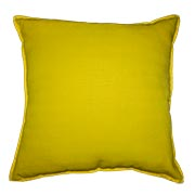 Rustic Weave Cushion Cover Yellow