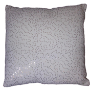 Sequin Gauze Cushion Cover White and Silver