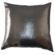 Shimmer Cushion Cover High Shine Silver