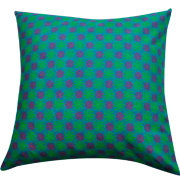 Shweshwe Print Cushion Cover Turquoise, Lime Green and Orange