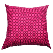 Shweshwe Print Cushion Cover Geometric Pink and Black