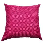 Shweshwe Print Cushion Cover Geometric Pink and Black